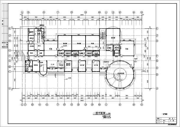 某三层框架结构9班幼儿园建筑设计方案图纸图片