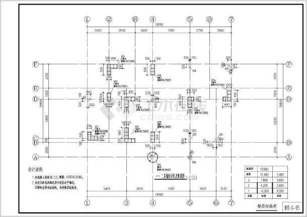 湖南别墅结构图纸私人小住宅施工图_cad框架法式别墅装修绿城图片