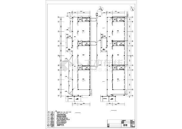 【广东】四层钢筋混凝土结构幼儿园给排水施工图