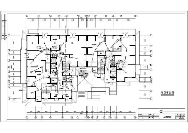 框架结构住宅楼电气设计施工图  简介: 电气设计总说明,电力,照明图例