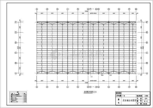 30米跨排架图纸结构拱形图纸施工图_cad厂房cad不到广联达桁架转一直图片