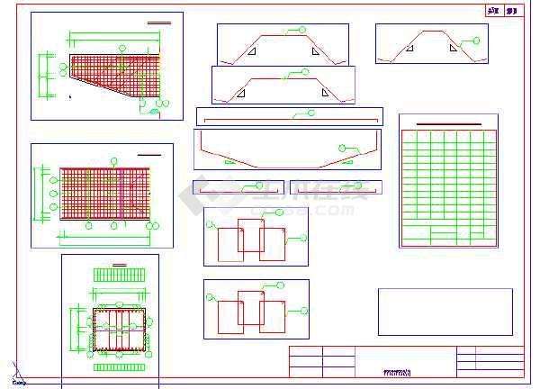 某公跨铁-空心板梁桥结构设计施工图