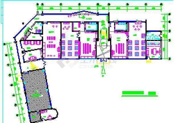 幼儿园教室区域角布置平面图_平面设计图