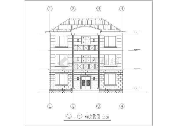 农村108平方自建三层小别墅方案图纸图片1