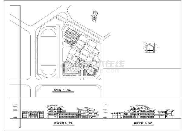【安徽】某中学教学楼建筑设计图纸图片3