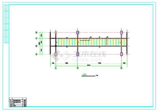 【宁波】某商业街天桥钢结构施工图