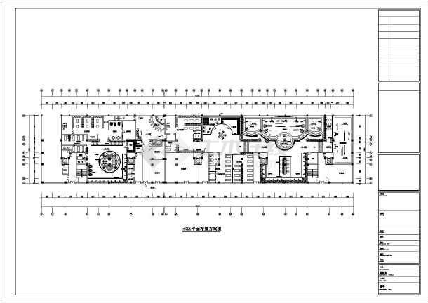 某地大型洗浴中心浴区平面设计施工图