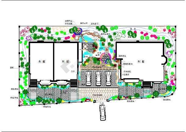 某地海边景观楼房方案设计图纸间距楼别墅规范别墅平面图片