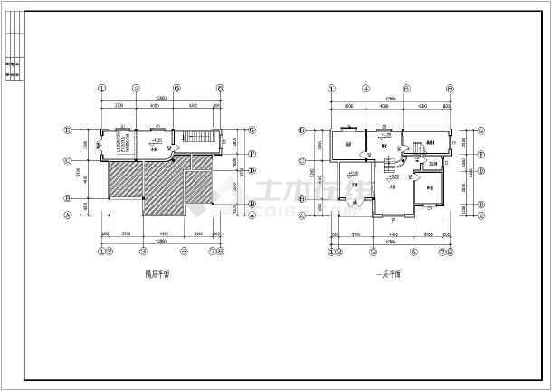 简洁多阳台四层自建房屋设计建筑户型图