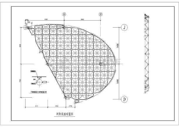 某地区某全套异形网架结构施工图纸