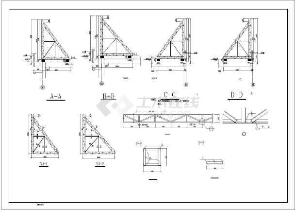 某屋顶大型钢结构广告牌设计施工图