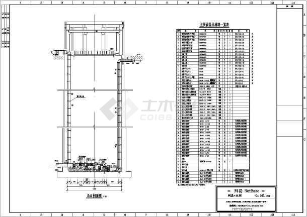 图纸 水利工程设计图 辅助工程 农田水利 某水利工程圆形取水泵房结构