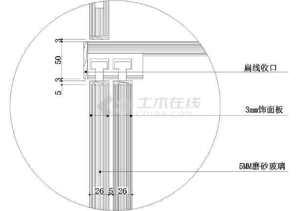 衣柜推拉门大样设计图纸(建筑cad图纸)-图1
