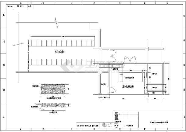 设计图纸的工艺发电机房防治布置图_cad教学7办公楼图纸层噪声图片
