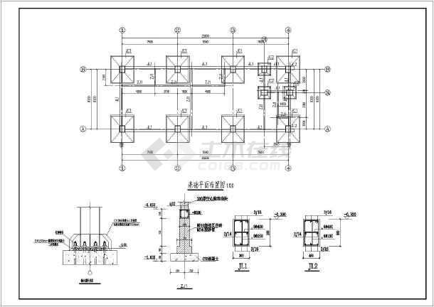 某地四层钢结构框架结构设计施工图