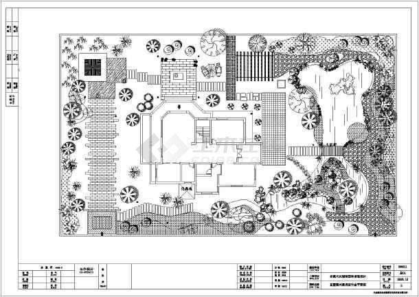 【安徽】天长别墅园林景观设计说明全套图纸图片