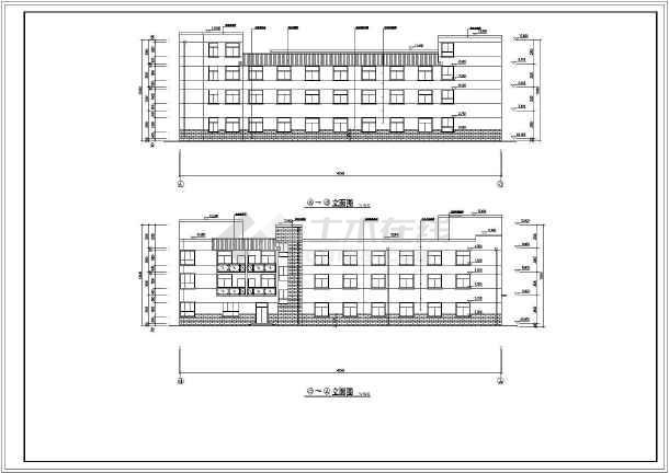 某3层砖混结构敬老院建筑方案设计图纸