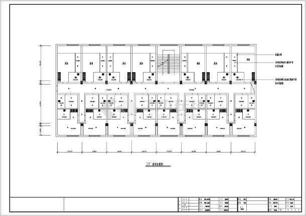 该图纸为某地砖混结构快捷酒店室内装修设计方案图,包括:入口平面布置