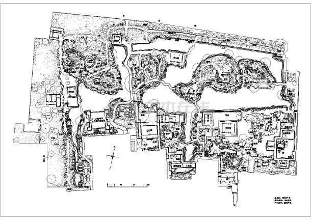 沧浪亭狮子林怡园拙政园的景观规划总平面图