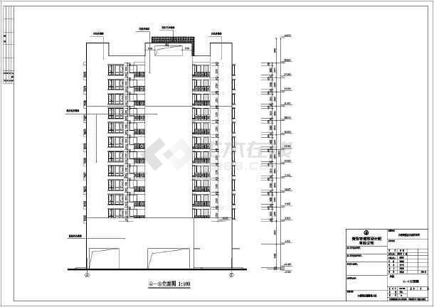 13层框架核心筒剪力墙结构小高层住宅楼建筑施工图