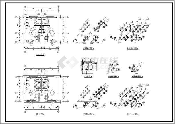 两套设计均完整,包含必要的设计说明,平面图,系统图,大样图.