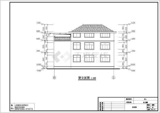 某小区三层框架结构别墅建筑结构施工图