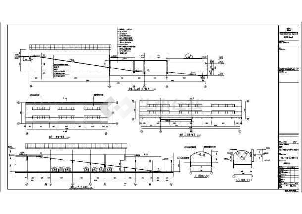 吉林市某小区地下停车场建筑设计施工图