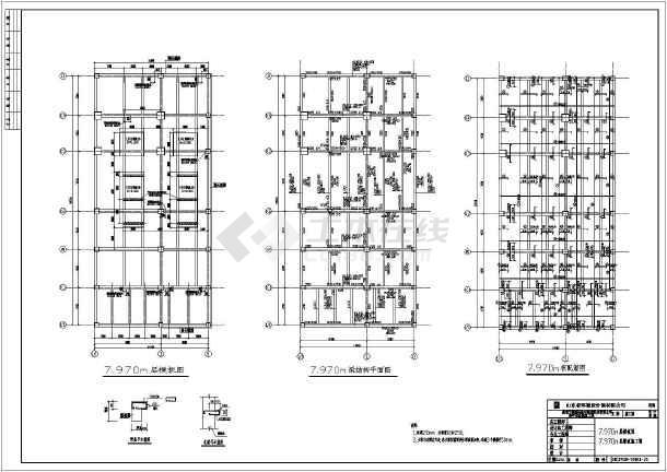 某地八层热电厂厂房结构施工图