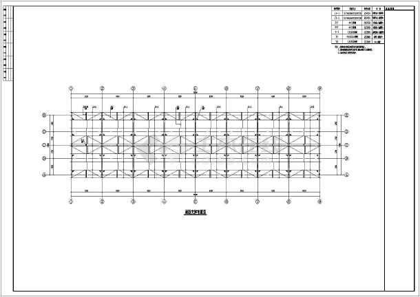 某地单层钢结构厂房部分结构施工图