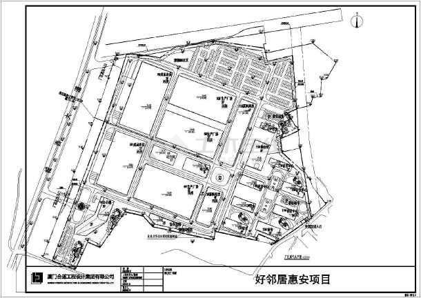 工业园区大型工厂规划设计总平面布置图,内容包括:生产厂房,原料库房图片