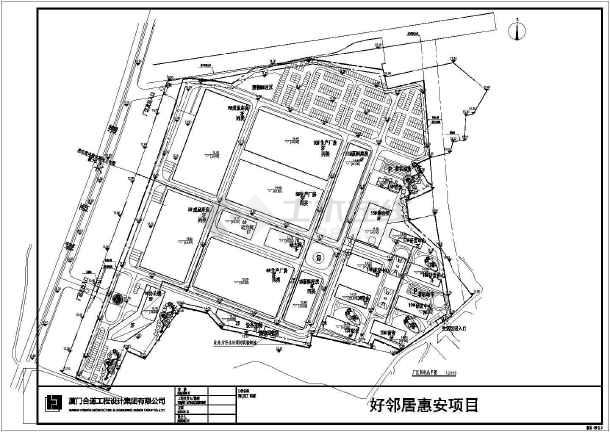 业园区大型工厂规划设计总平面布置图