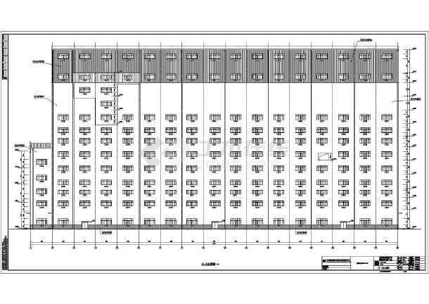 马钢霍邱张庄多层框排架结构矿工业厂房建筑施工图