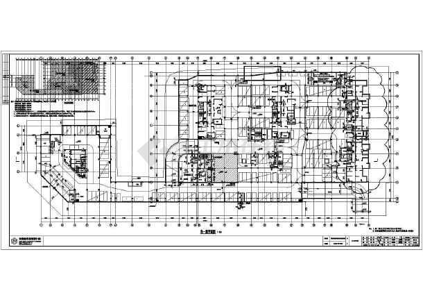 安徽合肥市新世界广场地下车库建筑设计施工图