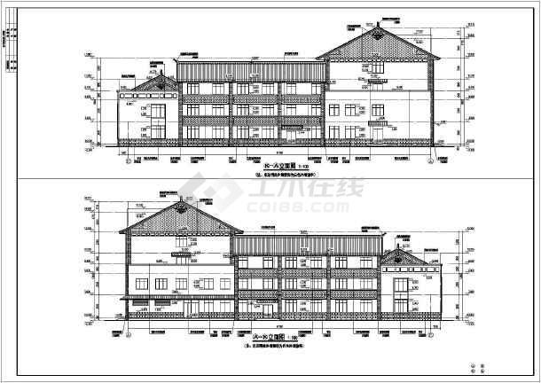 某地4层框架结构高速公路收费站综合管理用房施工图