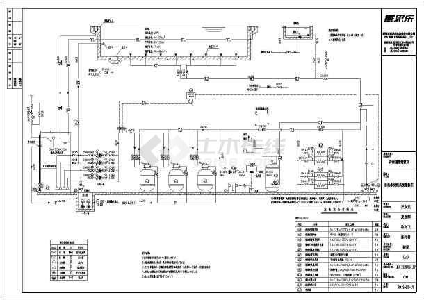 •酒店游泳池•平面布置图•设计施工图•工艺流程