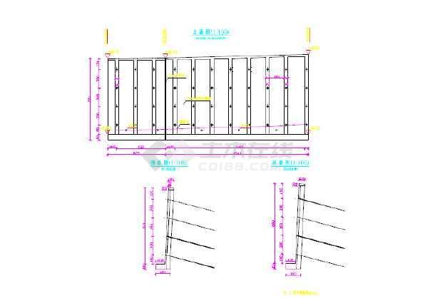 某锚索挡墙设计施工图纸-图2