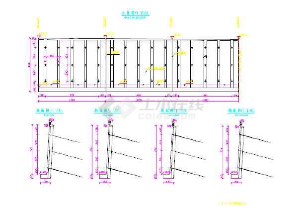 某锚索挡墙设计施工图纸-图3