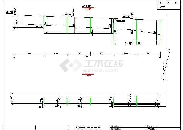 某地区边坡路堑挡土墙v边坡材料(含世界表)_ca2装备图纸图纸图片