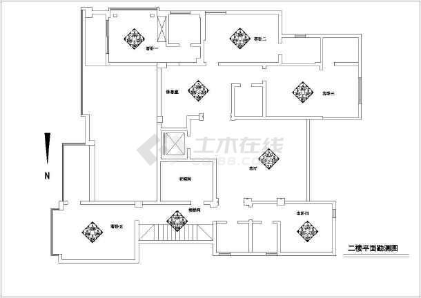 一套法式别墅吊顶建筑设计图(共8张)