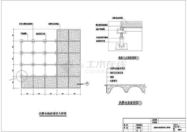 电梯机房平面布置图_多层机房装修、电气全套cad施工图,含说明_cad图纸下载-土木在线