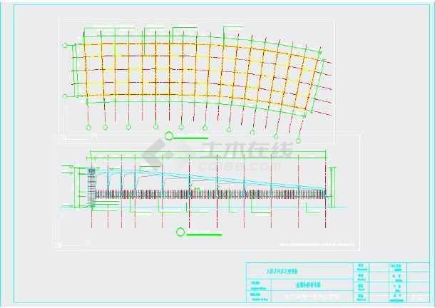 自行车雨棚,车库入口钢结构施工图图片2
