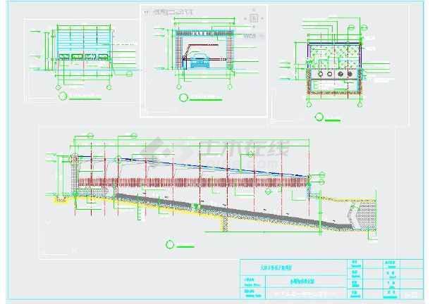 自行车雨棚,车库入口钢结构施工图图片3
