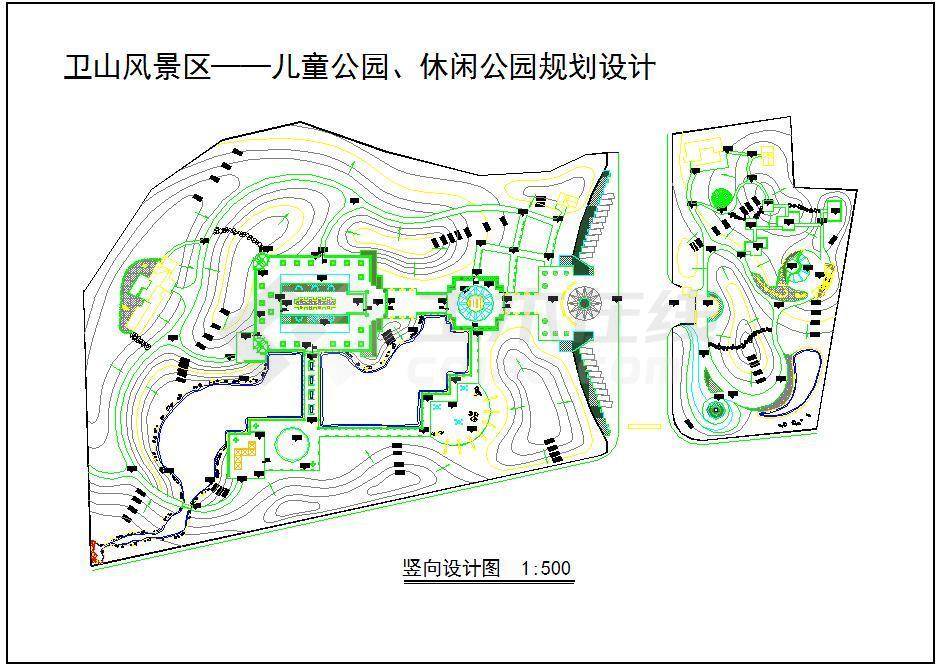 体育v体育公园、图案儿童规划设计CAD图(竖向cad公园缩小图片
