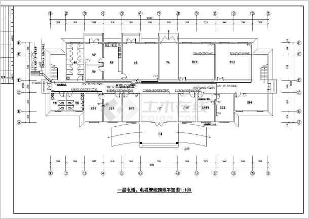 两层工厂厂房电气cad施工设计图(屋顶电梯机房)