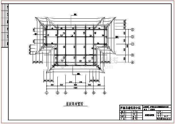 图纸 建筑图纸  古建筑设计  仿古建筑  古代建筑屋面翘角建筑cad大样