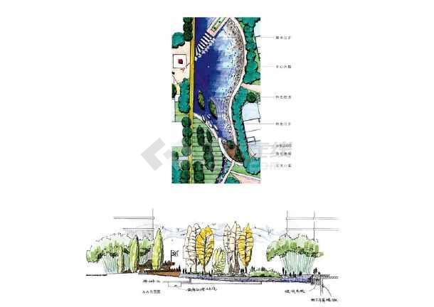 山东烟台金域河畔设计手绘图集