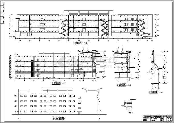 某地四层框架结构大型超市建筑施工图(含logo)