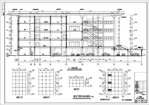某地两层钢结构会展中心建筑施工图图片3