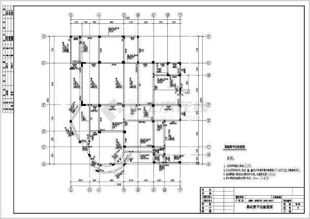 某地3层框架结构别墅全套结构施工图