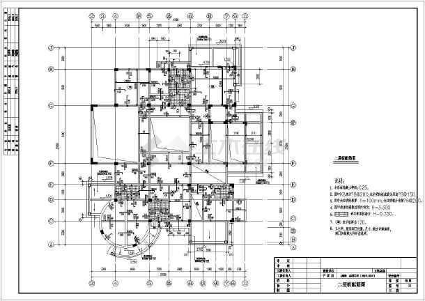 某地3层全套灰渣别墅结构别墅施工图结构框架电厂图片